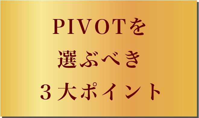 PIVOTを選ぶべき3大ポイント